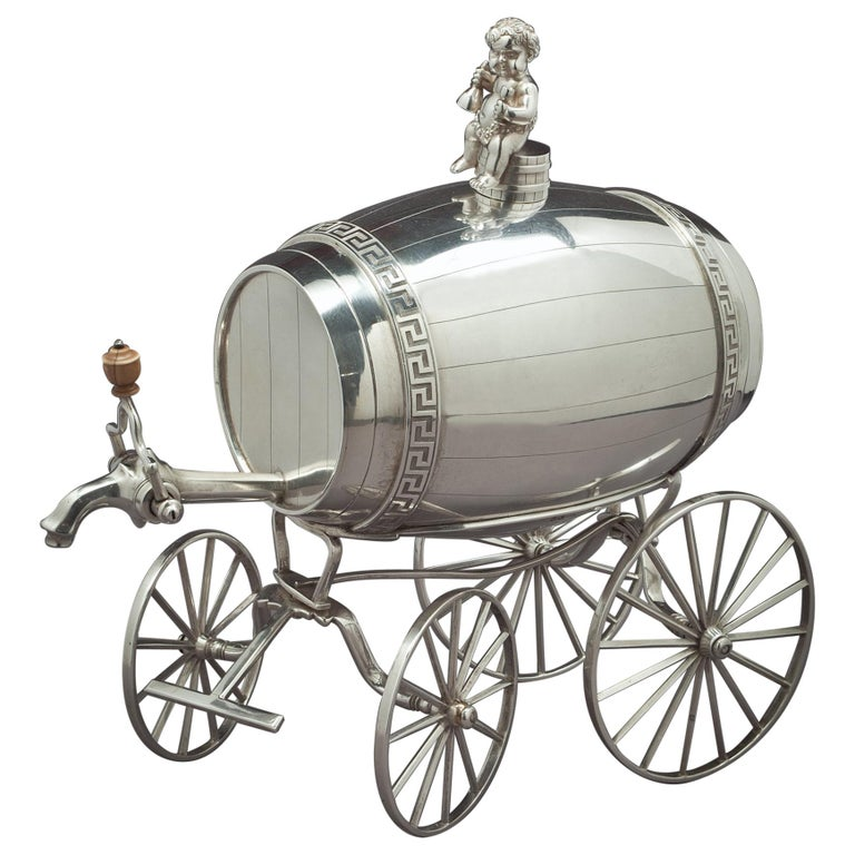 George III Sterling Silver Jolly Wagon For Sale