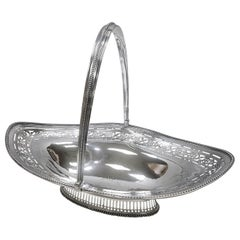George III Sterling Silver Oval Cake Basket