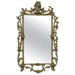 George III Style Carved and Painted Mirror