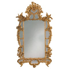 George III Style Carved Giltwood and Gesso Mirror