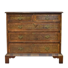 English George III Style Chest of Drawers with Yew-Wood Oyster Veneer
