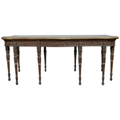 George III Style Finely Carved Mahogany Serving Table