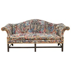 George III Style Mahogany and Needlepoint Sofa