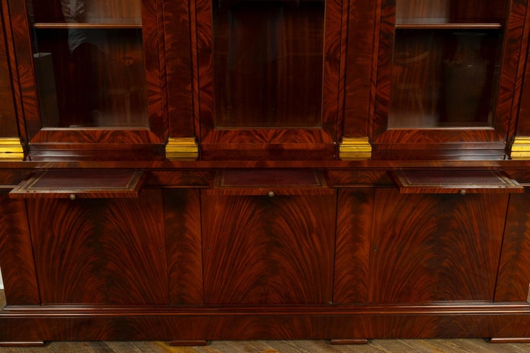 George III Style Mahogany Bibliotec In Excellent Condition For Sale In Houston, TX