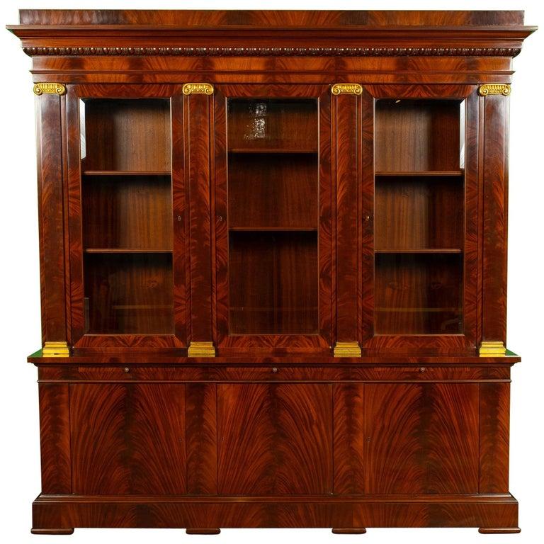 George III Style Mahogany Bibliotec For Sale