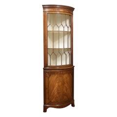 George III Style Mahogany Corner Cabinet