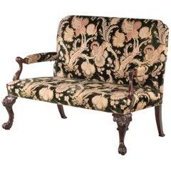 George III Style Mahogany Framed Sofa