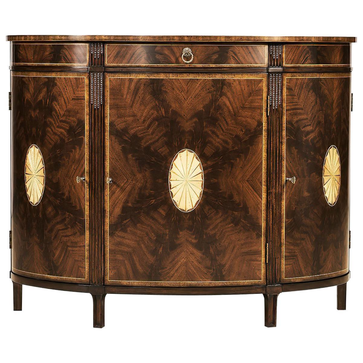 George III Style Mahogany Inlaid Sideboard