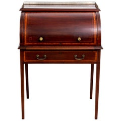 George III Style Mahogany Roll Top Desk