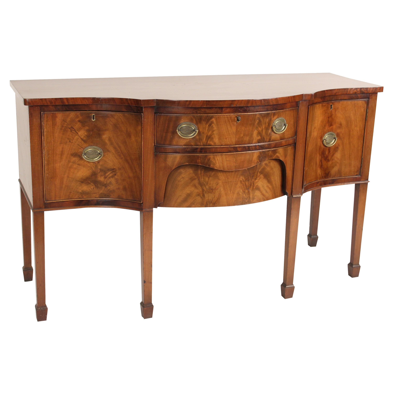 George III Style Mahogany Sideboard