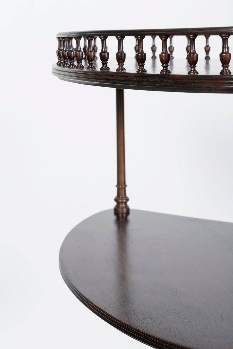 English George III Style Mahogany Three-Tiered Corner Stand For Sale