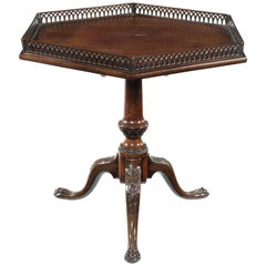 George III Style Mahogany Tripod Table