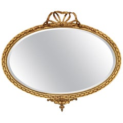 George III Style Oval Gilt Wall Mirror