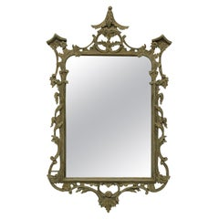 George III Style Painted Chinese Chippendale Style Mirror