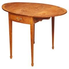 George III Style Satinwood Pembroke Table