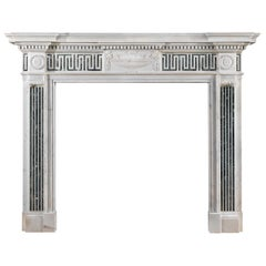George III Style Victorian Marble Chimneypiece