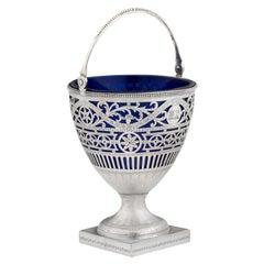 George III Sugar Basket Made in London in 1781 by Charles Chesterman