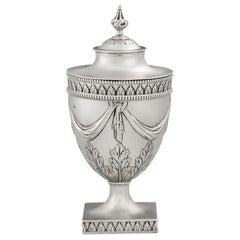 George III Sugar or Tea Vase Made in Sheffield in 1775 by Richard Morton & Co