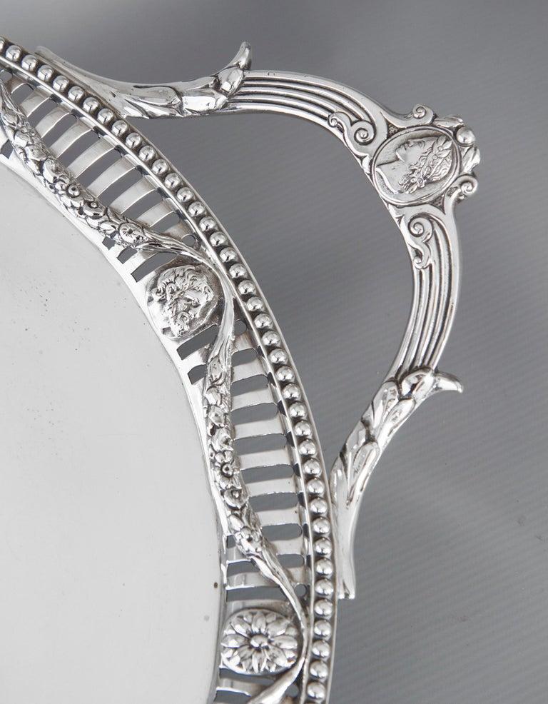 Georgian George III Two Handled Silver Tray, London, 1816 by Joseph Angell For Sale
