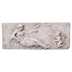 George III White Marble Chimneypiece Tablet