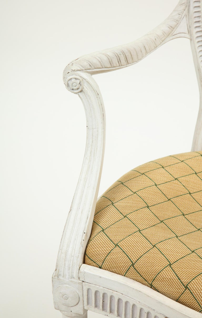 George III White-Painted Armchair Attributed to Gillows For Sale 3