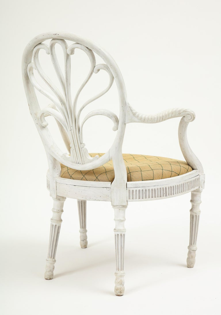 George III White-Painted Armchair Attributed to Gillows For Sale 1