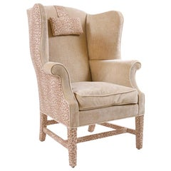 George III Wingback Armchair/ Library Chair
