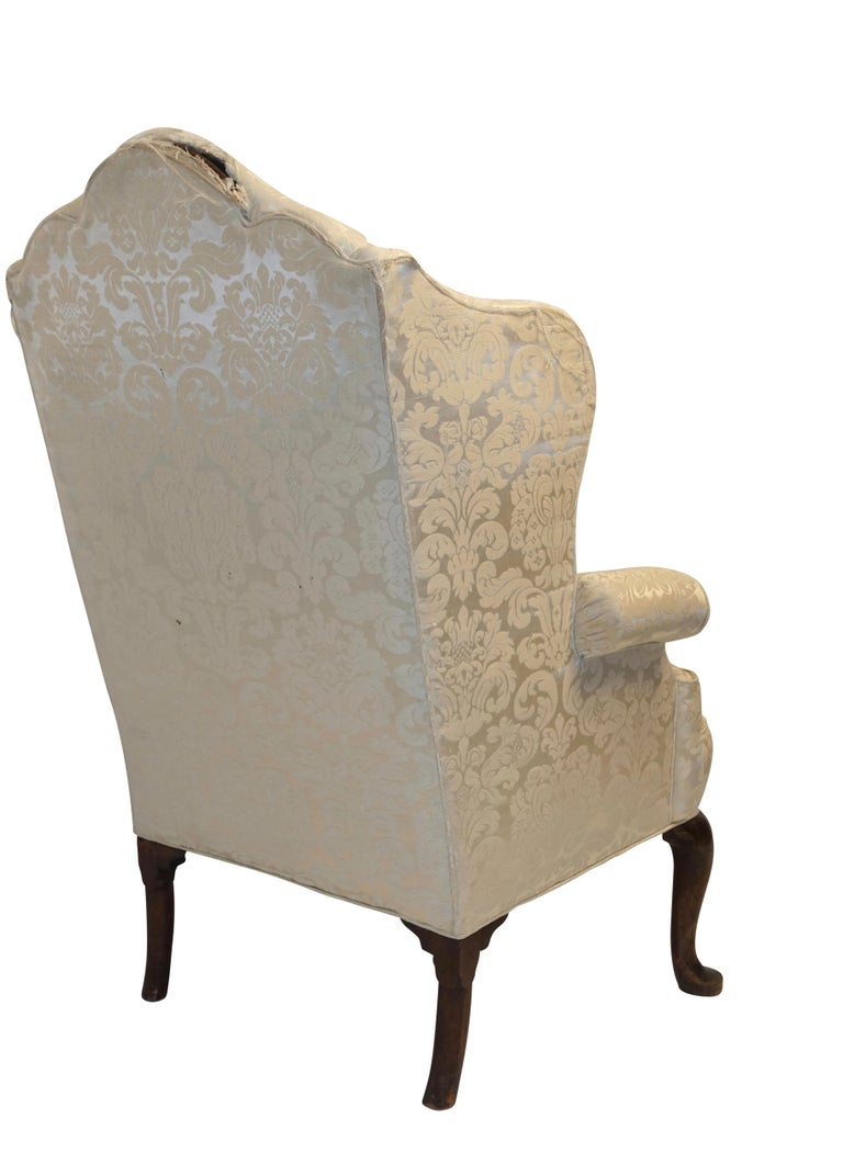 George III Wingback Chair, English, circa 1800 In Good Condition For Sale In San Francisco, CA