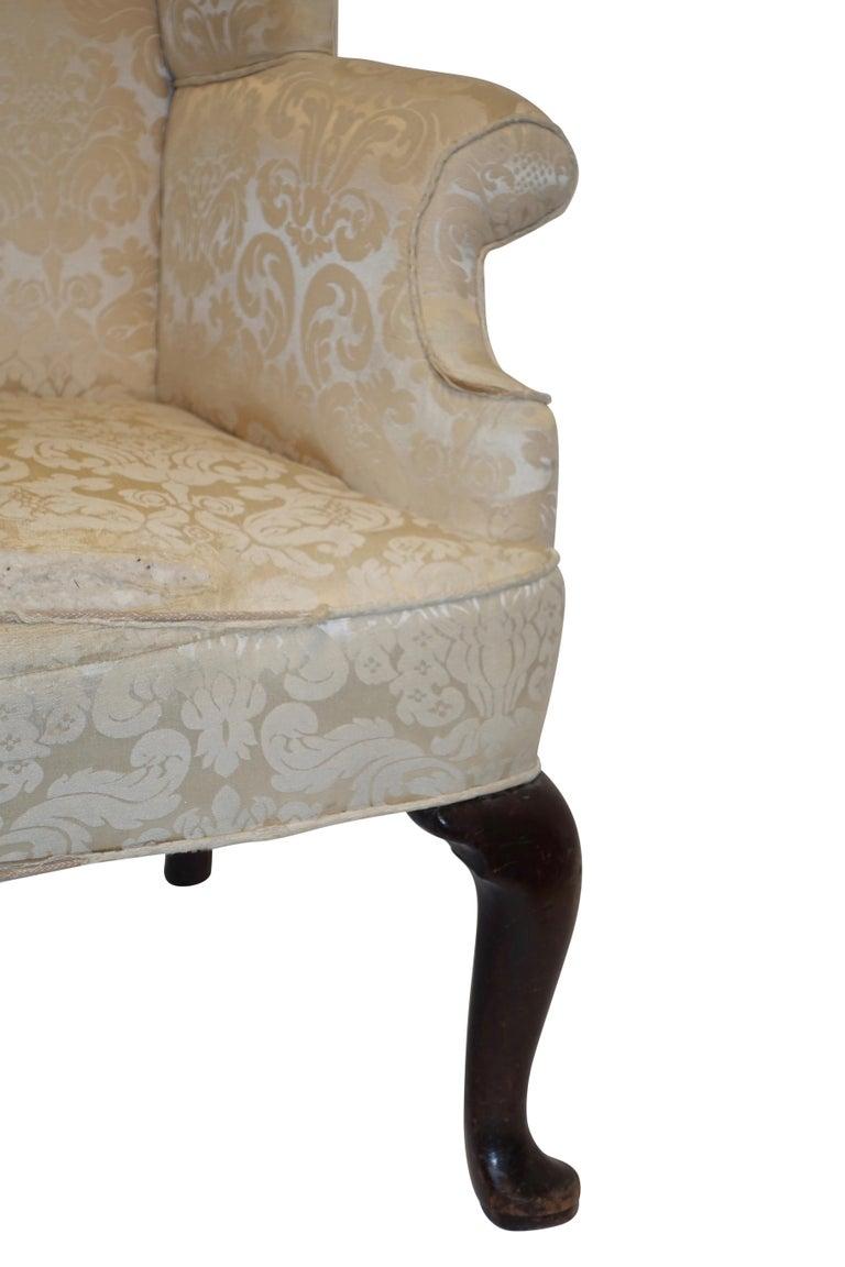 19th Century George III Wingback Chair, English, circa 1800 For Sale