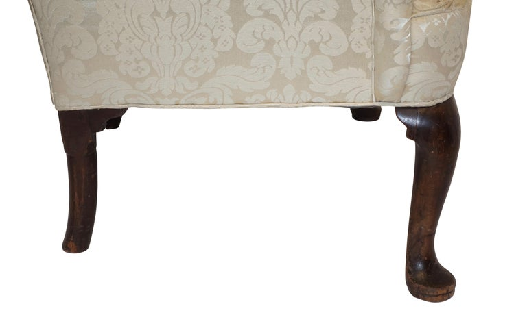 Upholstery George III Wingback Chair, English, circa 1800 For Sale