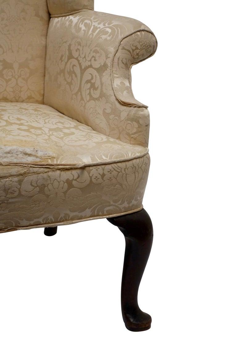 George III Wingback Chair, English, circa 1800 For Sale 1