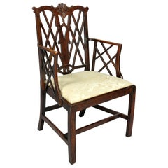 George III Yewwood Cockpen Armchair