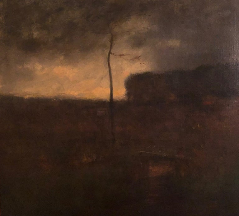 George Inness (1825 - 1894) A Cloudy Day,1886 Oil on canvas 25 x 30 inches Signed and dated lower center  Provenance: The artist Estate of the above Fifth Avenue Galleries, New York, Executor's Sale of Paintings by the Late George Inness,