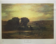 """""""Peace and Plenty"""" Print After George Inness, New York Graphic Society, 1940"""