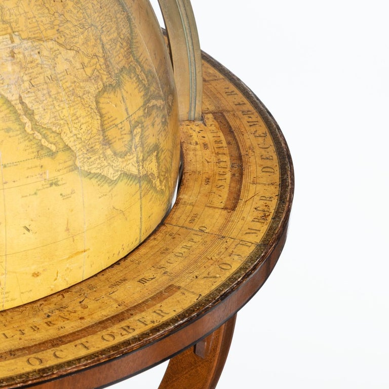 English George IV George Smith Terrestrial Globe For Sale