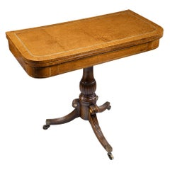 George iv Anglo-Chinese Amboyna Card Table