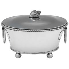 George IV Antique Sterling Silver Bouillabaisse Tureen by John Bridge, 1825