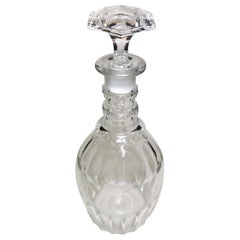 George IV Bottle Decanter English Crystal Cut Bottle, 1820-1824