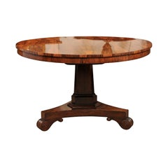 George IV Brazilian Rosewood Pedestal Center Table, circa 1830