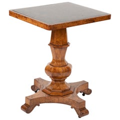 George IV Burr Elm and Ash Side Table with Stone Top