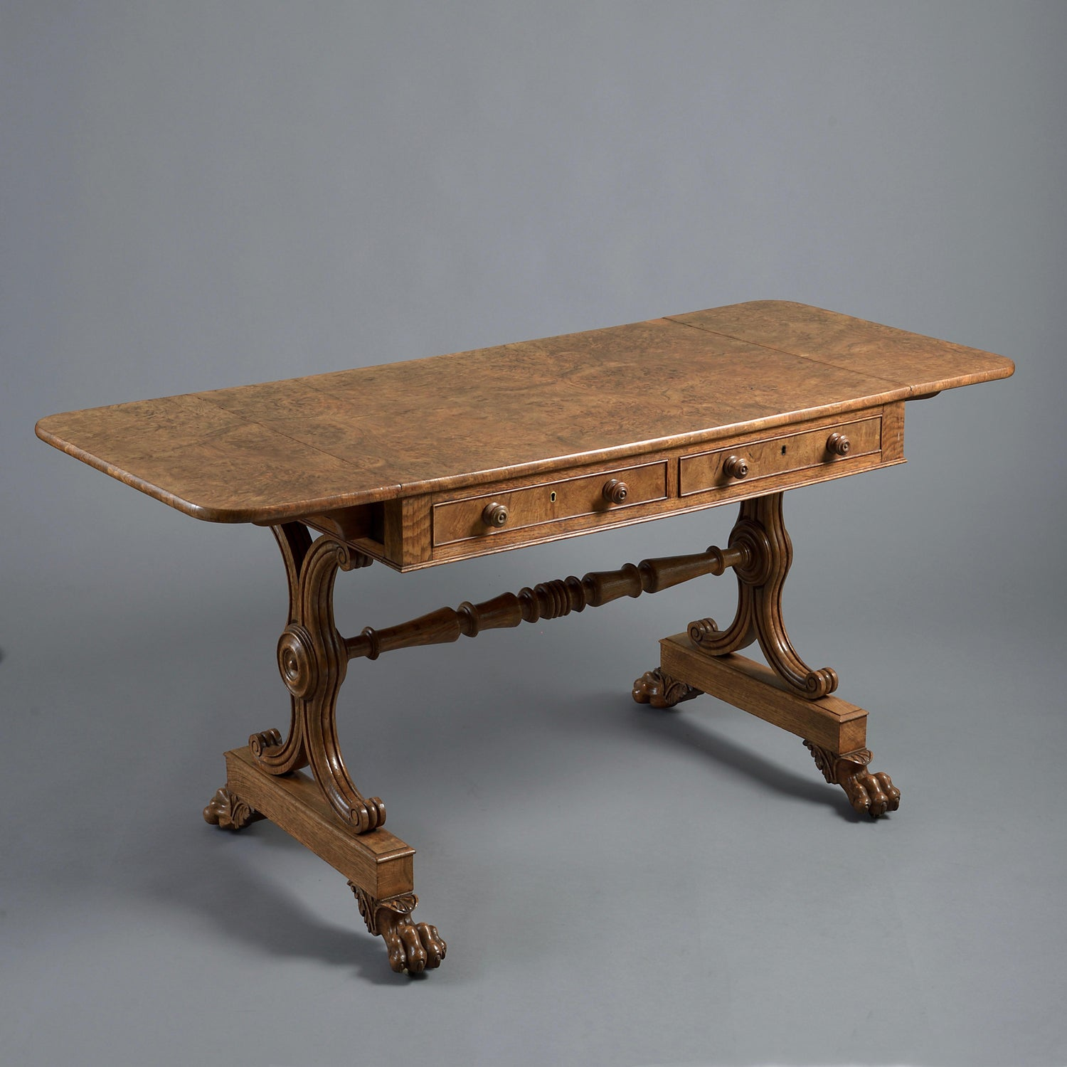 George IV Burr Oak Sofa Table