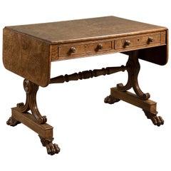George IV Burr Oak Sofa Table