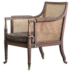 George IV Caned Bergère Chair
