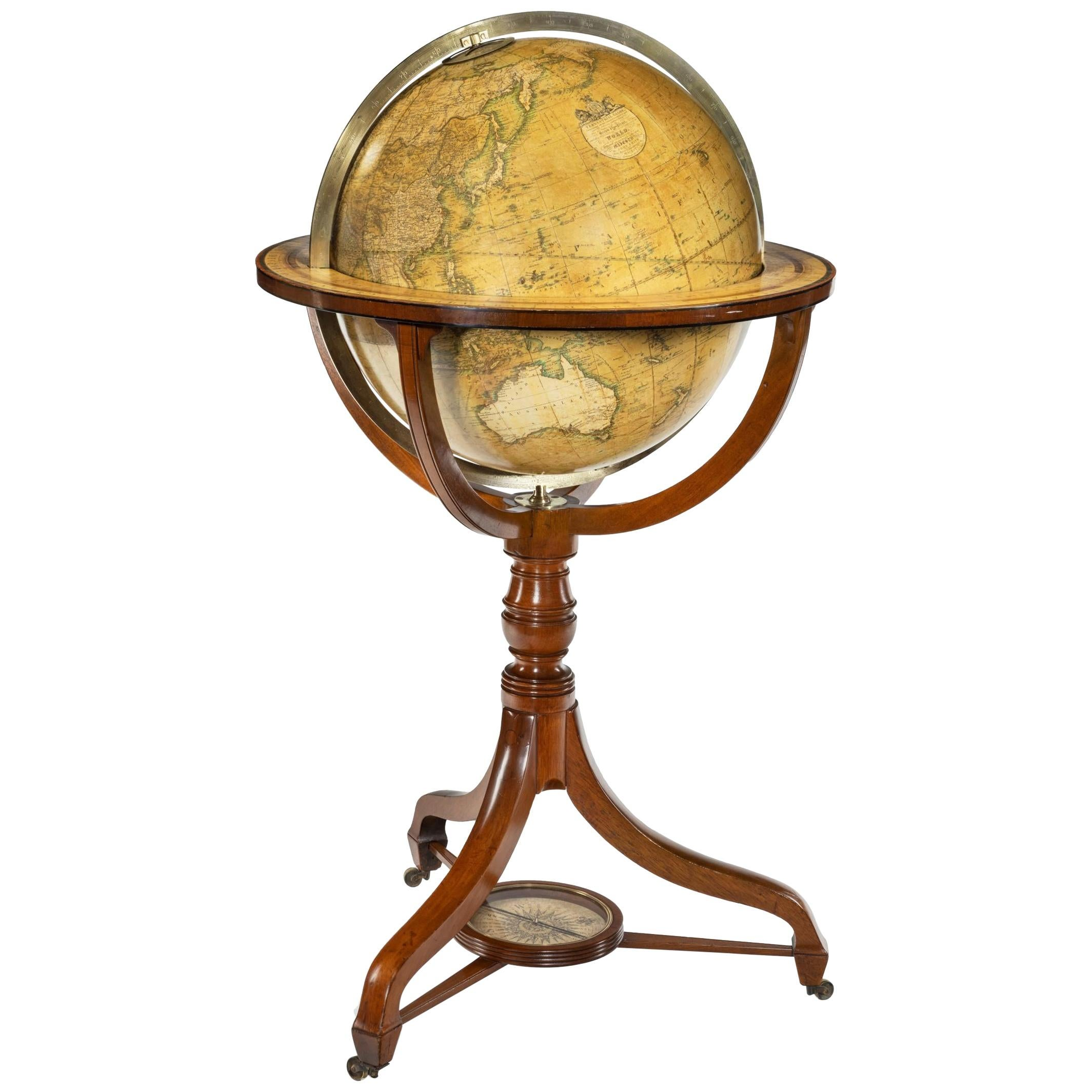 George IV Floor-Standing Library Globe by John Smith