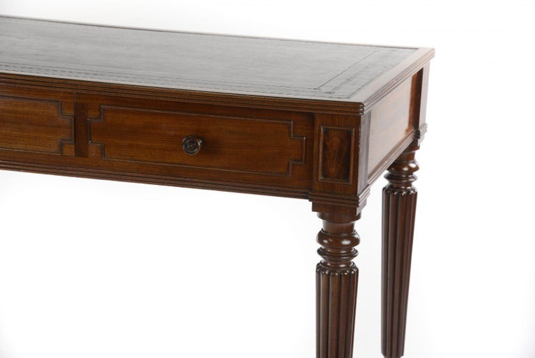 British George IV Gillows Mahogany Writing Table For Sale