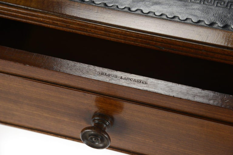 George IV Gillows Mahogany Writing Table In Good Condition For Sale In Northwich, GB