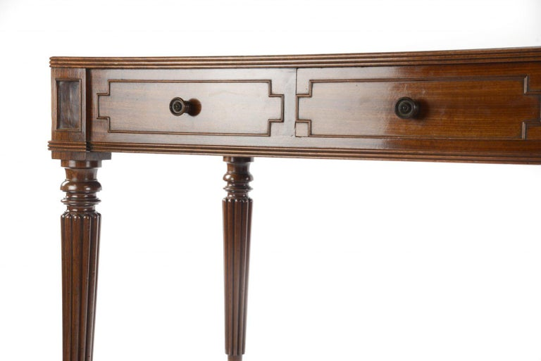George IV Gillows Mahogany Writing Table For Sale 1