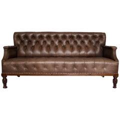 George IV Leather Club Sofa, Early 19th Century