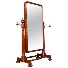 George IV Mahogany Cheval Dressing Mirror