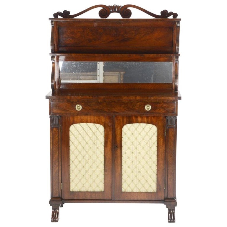 George IV Mahogany Chiffonier by Gillows of London and Lancaster For Sale